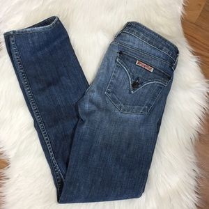 Hudson Collin flap low rise skinny jeans, 27
